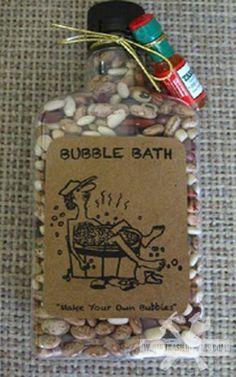 Make your own bubble bath haha