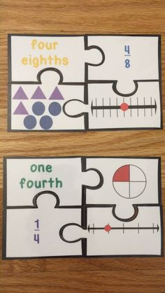 Looking for a fun interactive teaching idea for representing fractions on a number line and other visual models? Well bingo! Look no further as Fraction Game Puzzles, for CCSS 3.NF.1 and 3.NF.2, will serve as an exciting lesson plan for 3rd grade elementary school classrooms. This is a great resource to incorporate into your unit as a guided math center rotation, review exercise, small group work, morning work, or intervention. Math Center Rotations, Fraction Games, Review Games, Guided Math, 3rd Grade Math, Group Work, Morning Work, School Classroom, Fractions