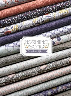 Now Shipping Morning Song, Elizabeth Olwen's latest organic cotton line for Fabrics Morning Songs, Shabby Fabrics, Happy 4 Of July, Cloud 9, Gorgeous Fabrics, Coupon Codes, Organic Cotton, Quilts, Sewing