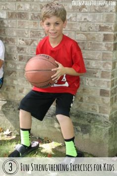 """Leg strength is key to holding a great defensive position in the game of basketball! Try out these strengthening activities for kids and see if your child can position their body in an ideal position for """"D"""". #childdevelopment"""