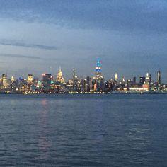 Exchange Place Boardwalk | Jersey City | NJ | NYC skyline | Sunset
