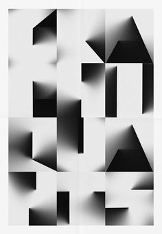 Type created from cast shadows. Lovely work from Les Graphiquants of Paris