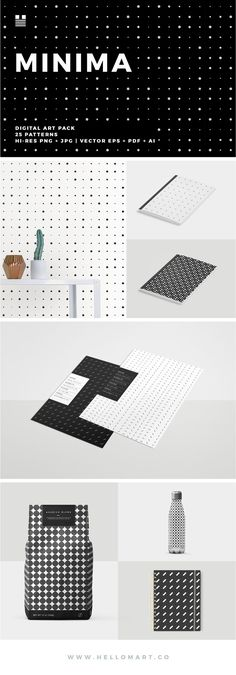 Minima is the first in a two part series of minimalist pattern designs. #minimal #pattern #vector #printable #dots #minimalism