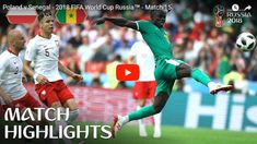 Poland v Senegal - 2018 FIFA World Cup Russia™ - Match 15 Senegal become first African nation to win a match at Russia joining Japan at the top of Group H. Find out where to watch live: fifa. Soccer Gifs, Comedy Clips, World Cup Russia 2018, Match Highlights, African Nations, Latest Music Videos, Football Gif, Trending Videos, Fifa World Cup