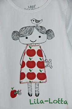 Lovely print idea for T-shirt. Textiles, Applique Patterns, Sewing Patterns, Patch Aplique, Free Motion Embroidery, Bd Comics, Art Textile, Kids Prints, Scrappy Quilts