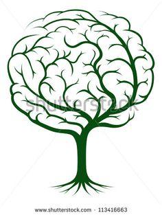 Ilustración De Árbol De Cerebro, Árbol De Conocimiento, Concepto ...