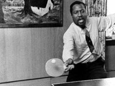 Thelonious Monk playing ping pong