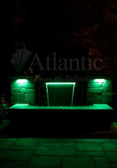 Illuminate your evening with Atlantic Water Gardens Colorfalls