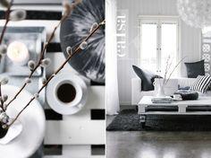 Grey white living room detailes