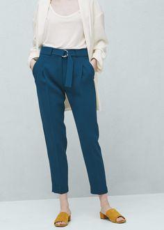 Belt baggy trousers | MANGO