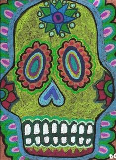 oil pastel on paper by cheri