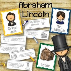 Abraham Lincoln Posters and Book to create!