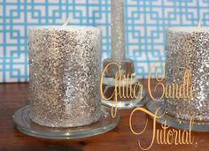diy Candles: DIY Candles DIY Home DIY Crafts: DIY Glitter Candle Tutorial