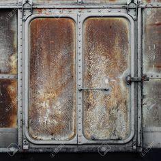 Rusty Metal Door metal rusty cage gray paint 4 | puertas industriales | pinterest