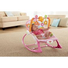 Add to amazon registry.   Buy Fisher-Price Infant-to-Toddler Rocker Sleeper, Pink Bunny Pattern at Walmart.com