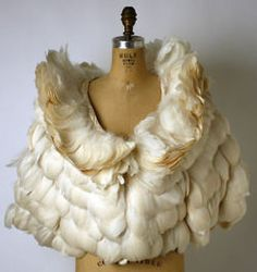 """Feather evening cape by George Peter Stavropoulos, American, ca. Label: """"Stavropoulos/New York/Athens"""" PERFECTION. Looks Style, My Style, Bodies, Feather Cape, Vintage Outfits, Vintage Fashion, Estilo Fashion, Costume Institute, Mode Vintage"""
