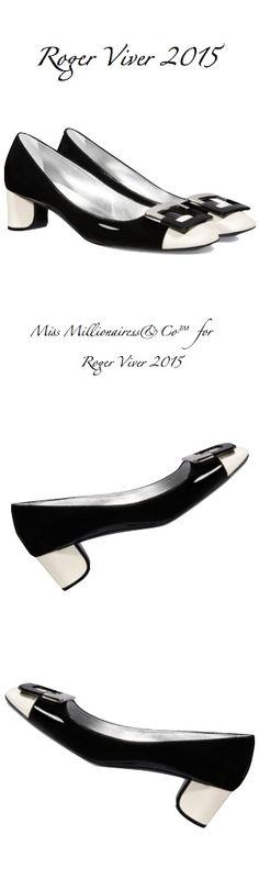 Roger Viver 2015 More Flats Le Chaussures, Chaussures Souliers Shoes, Bags Shoes Boots Umbrellas, Rogers Viver, Fashionable It Black, Viver 2015, Shoes C S Flats, Black Whit, 1950 S Shoes Roger Viver, 2015