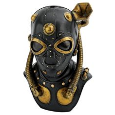Steampunk Apocalypse Gas Mask Sculpture