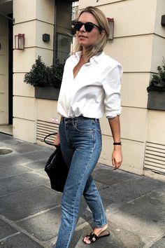 Parisian summer style Fashion Mode, Look Fashion, Girl Fashion, French Fashion, Fashion Spring, Classic Fashion Outfits, Fashion Clothes, Minimalist Fashion French, 20s Fashion