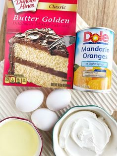 Orange Pineapple Layer Cake (Together as Family) Orange Pineapple Cake, Crushed Pineapple, Orange Cakes, Easy Cake Recipes, Sweet Recipes, Easy Desserts, Flan, Scones, Brownies