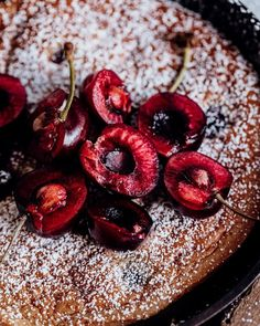 So, what is Clafoutis (klah-foo-TEE) you may ask? It's a classic dessert that originated in Limousin, France. Sweet black cherries are native to this region in Southern France, and wow they must be so delicious. ⁣
