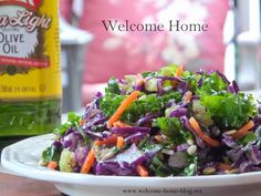 Welcome Home: Kale Salad with Apple and Pine Nuts