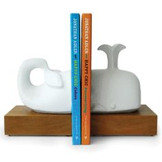 Jonathan Adler Whale Bookends in Desk Accessories