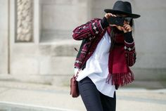 The Latest Street Style Photos From Paris Fashion Week | WhoWhatWear.com #fashion #chic #pfw #fw2015 #streetstyle