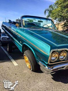 64 Impala Lowrider, Chevrolet Impala, Weird Cars, Cool Cars, My Dream Car, Dream Cars, Arte Lowrider, Chicano, Hydraulic Cars