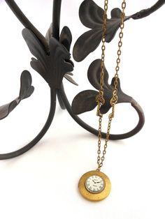 Handmade Necklace Antique Brass Steampunk by BackAlleyDesignsINK