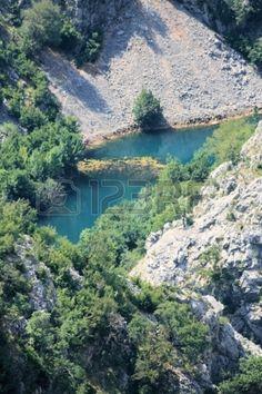 canyon Krupa river, Croatia
