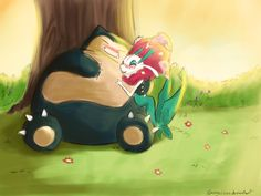 Snorlax and Florges