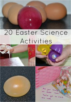 Fun Easter Experiments for kids, includes Easter egg hunt codes, make meringue, naked eggs and lots more #Science