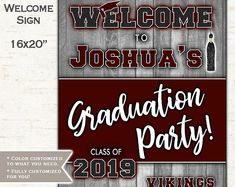 Welcome sign for a graduation party for a high school graduation or college graduation party. Boy Printable, Printable Invitations, Printables, Invites, Baby Sprinkle Invitations, Baby Shower Invitations For Boys, College Graduation Parties, Graduation Party Invitations, Baby Showers