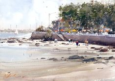 Joseph Zbukvic is one of the finest master watercolor painters in the world; his watercolor painting instruction workshops . Watercolor Water, Watercolor Artists, Watercolor Landscape, Landscape Paintings, Watercolor Paintings, Watercolors, Watercolor Architecture, Landscapes, Art Pictures