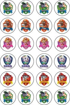 Paw Patrol Cupcake Toppers, Paw Patrol Cupcakes, Edible Cupcake Toppers, Paw Patrol Cake, Paw Patrol Birthday, Paw Patrol Party Decorations, Diy Birthday Decorations, 3rd Birthday Parties, Boy Birthday