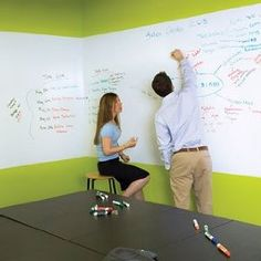 We're gonna do this soon! Whiteboard wall in the office:)