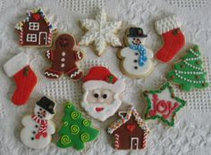 Christmas Cookies with Royal Icing.