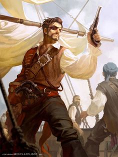 Pirate art - compelling fantasy art collection from choi won chun Pirate Art, Pirate Life, Pirate Crafts, Pirate Ships, Character Concept, Character Art, Concept Art, Dnd Characters, Fantasy Characters