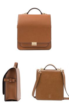 Pattern Leather Backpack Office Shoulder Bag Brown 2017