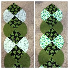 St Patricks Day table runners