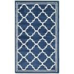 Amherst Navy/Beige (Blue/Beige) 2 ft. 6 in. x 4 ft. Indoor/Outdoor Area Rug