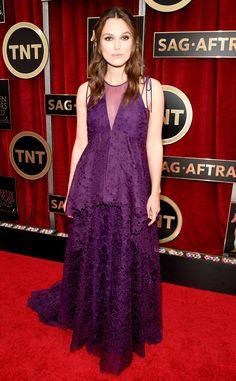 Keira Knightley gorgeous wearing Erdem! #SAGAwards