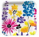 Spring Garden Blooms Paper Luncheon Plates