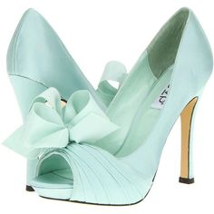 rsvp Cailyn ($70) ❤ liked on Polyvore featuring shoes, pumps, heels, sapatos, mint, mint green pumps, high heel platform shoes, high heel pumps, mint shoes and peep-toe pumps