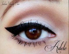 neutral makeup,black eyeliner