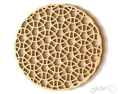 ITEM DETAILS    Type: Laser cut wood coaster. We spray a base sealer and clear top coat on each piece making them resistant to moisture and durable.