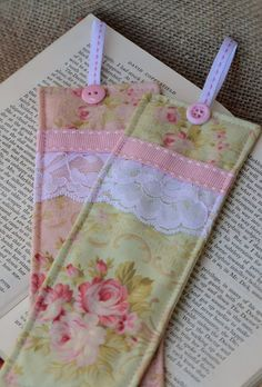 The Diary of a Country Girl: Beautiful Fabric Bookmarks ~ A Tutorial