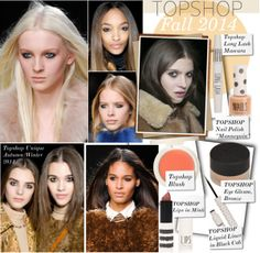 """""""Topshop Unique Autumn/Winter 2014 - LFW Beauty Report"""" by kusja ❤ liked on Polyvore"""