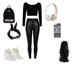 """going out for  the day"" by kelceejones on Polyvore featuring Boohoo, River Island, Giuseppe Zanotti, CellPowerCases and Moschino"